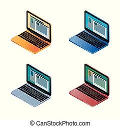 coloré, portables, multi