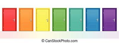 coloré, portes