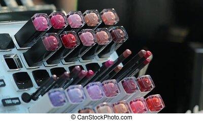 coloré, produits de beauté, outils
