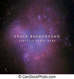 coloré, profond, espace, fond, vecteur