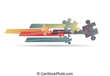 coloré, puzzle, forme, vecteur, conception, résumé