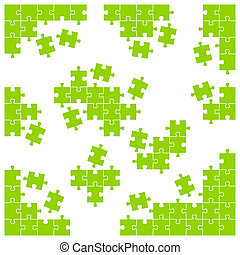 coloré, puzzle, -, parties, morceaux, individu, coin