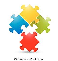 coloré, puzzle