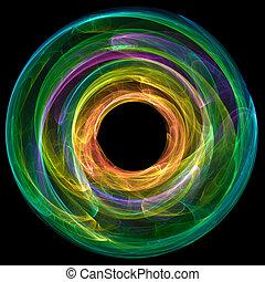 coloré, résumé, cercle