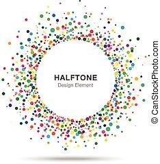 coloré, résumé, halftone, conception, logo, élément