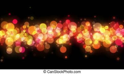 coloré, résumé, particules, bokeh, fond, boucle