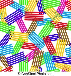 coloré, résumé, pattern., seamless, texture, raies, vecteur, fond