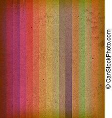 coloré, raies, texture, style, vendange, vieux, fond, papier