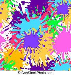 coloré, seamless, peinture, clair, vecteur, colors., pattern:, artistique, fond, eclabousse