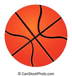coloré, silhouette, balle, basket-ball