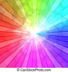 coloré, spectre, fond