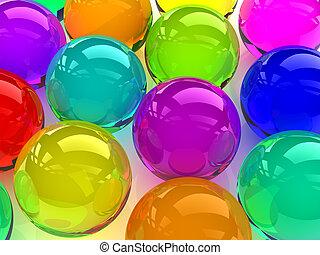 coloré, sphères