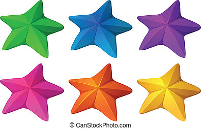 coloré, starfishes