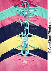 coloré, t-shirts