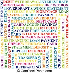 coloré, termes, fond, banque
