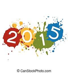 coloré, texte, placé, éclaboussure, encre, 2015