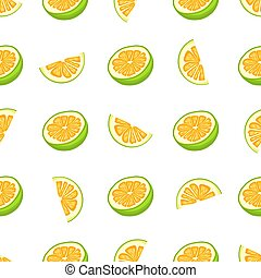 coloré, thème, illustration, pomelo, seamless, grand