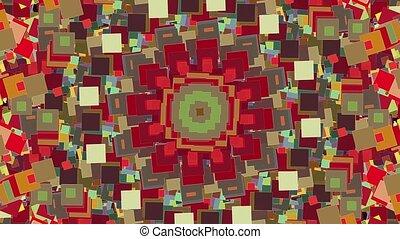coloré, tourner, mosaïque, carrés