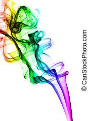 coloré, vapeur, résumé, formes, blanc
