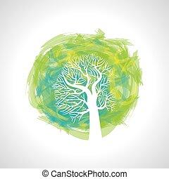 coloré, vecteur, arbre