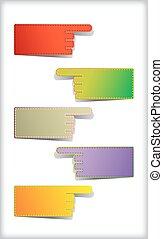coloré, vide, stickers., ensemble