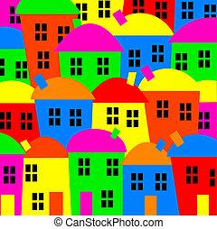 coloré, village
