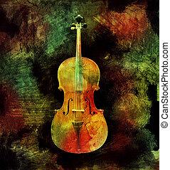 coloré, violoncelle