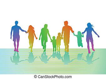 coloré, voyage famille