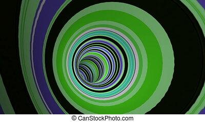 coloré, voyage, par, tunnel, raies