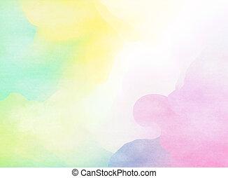 coloré, watercolor., grunge, texture, arrière-plan., doux, arrière-plan.