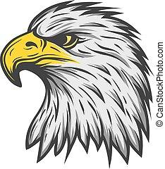 color, águila, version., orgulloso, head.