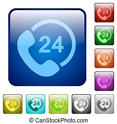 Color 24 hour service square button