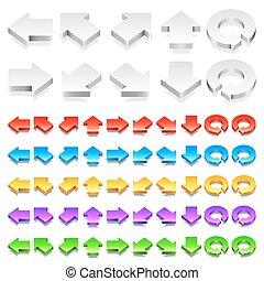 Color 3D Arrows