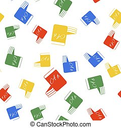 Color ABC book icon isolated seamless pattern on white ...