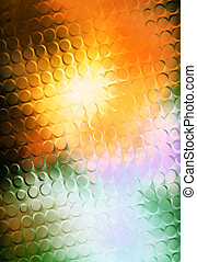 Color Abstract background and glass effect with honey structure.