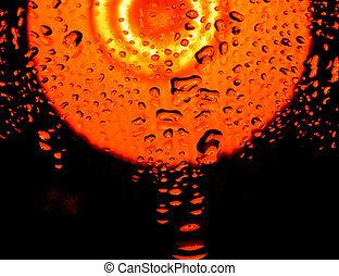 color abstract background with water drops