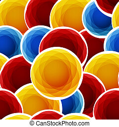 Color abstract bubbles seamless background