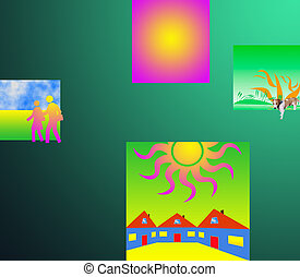color abstract composition