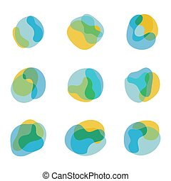 Color abstract free shapes