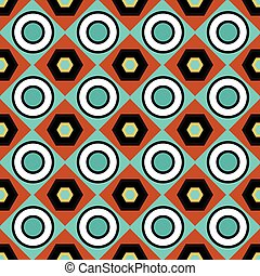 color abstract geometric seamless pattern