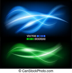 Color abstract glowing background - Vector illustration of ...