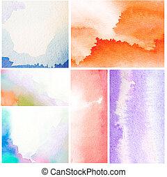color agua, resumen, conjunto