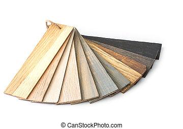 color, aislado, muestra, madera, plano de fondo, blanco, pedazo, guía