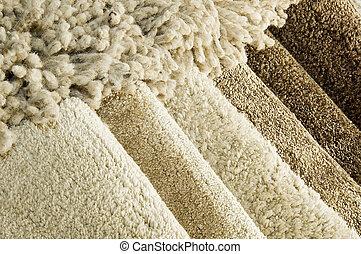 color, alfombra, muestras