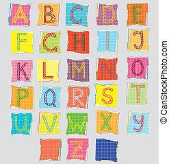 Color alphabet for children cartoon