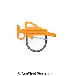 color alpinism equipment belay rappel icon illustration