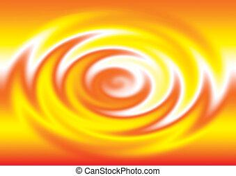 color anaranjado, agua