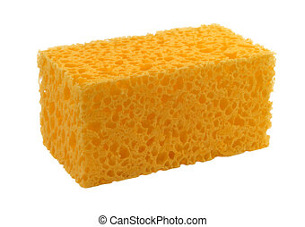 color anaranjado, esponja