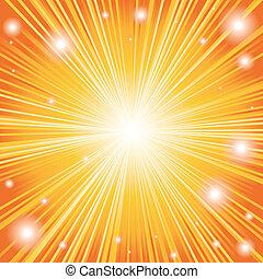 color anaranjado, plano de fondo, explosión