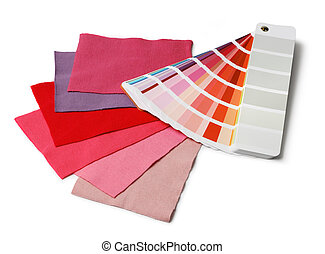 Decoration designer color and fabric swatch samples